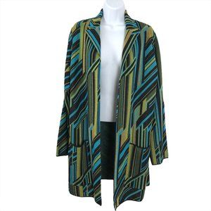 Missoni Open Jacket Multicolored Print Knit
